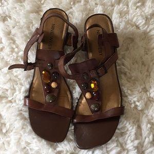 Women's Nine West Jeweled Strappy Sandals